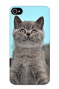 Ellent Iphone 4/4s Case Tpu Cover Back Skin Protector Grey Kittens For Lovers