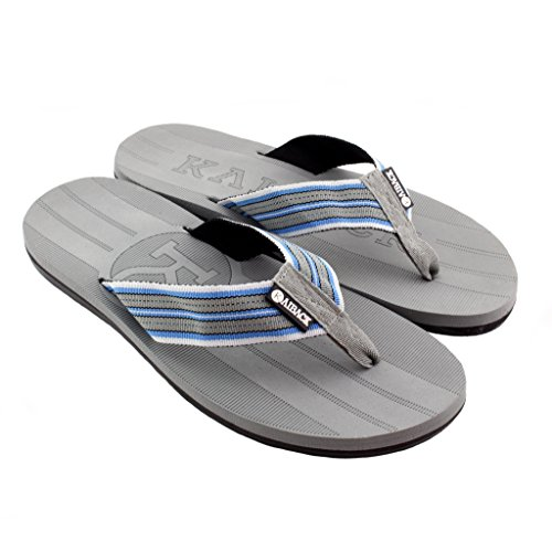 Kaiback Menns Beachcomber Sandal Grå / Blå