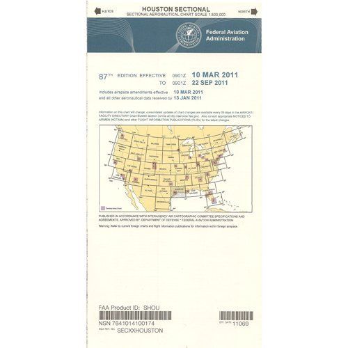 FAA Chart: VFR Sectional HOUSTON SHOU (Current Edition) for sale  Delivered anywhere in USA