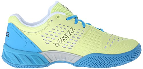 K-swiss Mujeres Bigshot Light Zapato De Tenis Sunny Lime / Vivid Blue Synthetic Leather