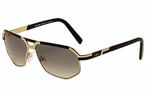 Cazal 9056 Sunglasses 001 Black & Gold / Grey Gradient Lens 61mm