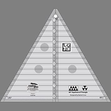 Amazon.com: Creative Grids 60 Degree Equilateral Triangle 8.5 ... : 60 degree triangle quilting ruler - Adamdwight.com