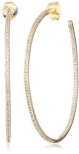 (Cz By Kenneth Jay Lane Women's 5Cttw Cz Pave Inside/Outside 3