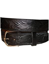 Killer Hats Solid Leather Name Belt with Eagle Embossing