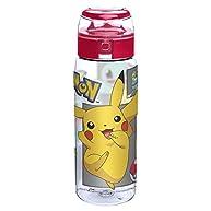 Zak! Designs Pokemon Reusable Tritan Plastic Water Bottle with Flip Top Cap, Featuring Starter Pokemon, BPA-Free and Break Resistant, 25 oz.