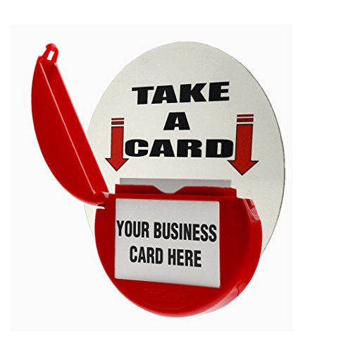 Card Caddie (Marketing Holders RED CARD CADDIE OUTDOOR VEHICLE BUSINESS CARD HOLDER)