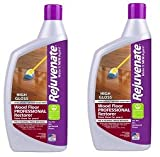 Rejuvenate Professional Wood Floor Restorer with Durable High Gloss Finish Non-Toxic Easy Mop On Application - 32 Ounces (2-(Pack))