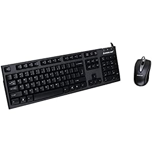 IOGEAR Spill-Resistant Wired Keyboard and Mouse Combo, GKM513, Black