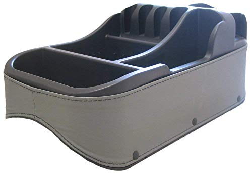 Truck Floor Console - Texas Saddlebags Clutter Catcher Universal Floor & Seat Console Grey (50815)