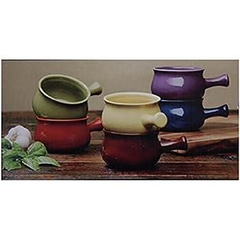 Amazon Com Stonewear Bowls 6 Piece Ceramic Soup Bowl Set