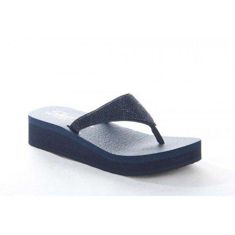 Skechers , Tongs pour femme bleu bleu marine