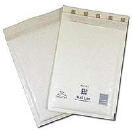 Mail Lite Acolchado Sobres-padde Bolsas-a//000-Blanco Y Dorado-todos Cant
