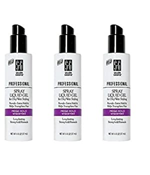 Salon Grafix Professional Spray Liquid Gel 6 oz. Mega Hold Unscented by Salon Grafix