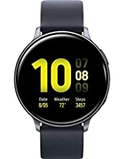 Samsung Galaxy Watch Active2 (Silicon Strap + Aluminum Bezel) Bluetooth - International R820-44mm Black