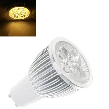 NUEVO GU10 5 W 5-LED 4000 K 450-Lumen Luz Blanca Cálida Lámpara de bombilla 85 - 260 V by FamilyMall Store: Amazon.es: Iluminación