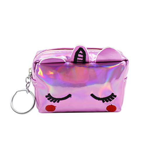 (Holographic Unicorn Change Coin Purse Small Wallet for Girls Boys Women)
