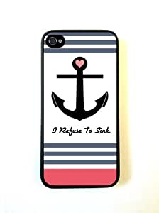 Refuse To Sink Coral Stripes iphone 5c Case - For iphone 5c- Designer TPU Cas...