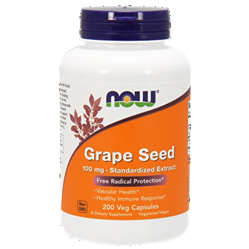NOW Foods Grape Seed Anti 100mg 400 ct 2 x 200ct