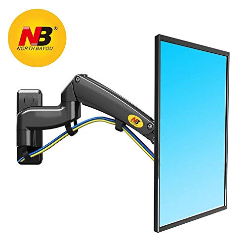 - NB North Bayou Full Motion TV Monitor Wall Mount Bracket for 30-40 Inch LCD LED Flat Screen with Weight Capacity 11lbs to 22lbs (Black-Double Extension)