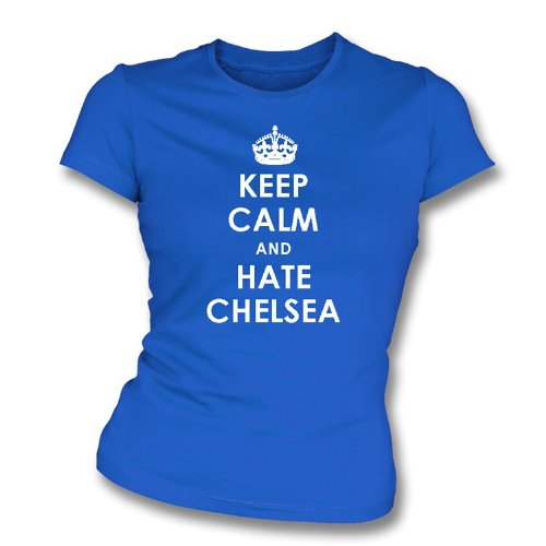 Keep Calm And Hate Chelsea Women's Slimfit T-shirt QPR Small