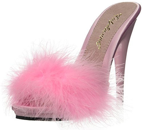 Poise Sandales Fabulicious Pink 501f Satin Fur B B marabou Plateforme Femme Pink dqqxEngrHw