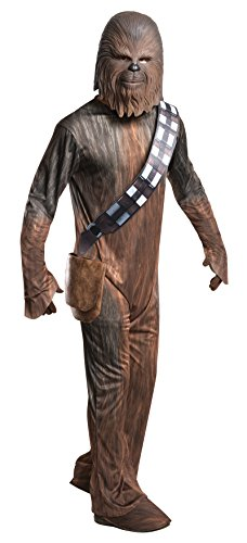 [Rubie's Star Wars Adult Deluxe Chewbacca Costume, Large] (Han And Leia Costumes)