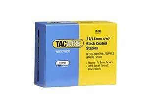 Tacwise 0374 - Grapas de color ne gro de tipo 71/14 mm