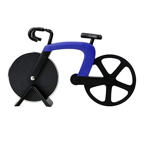Bicycle Pizza Cutter with Stainless Steel Wheel Blade,2019 New Style Super Sharp and Easy To Clean (Color)