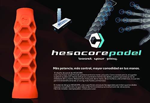 Grip Padel HESACORE Tour Grip + 1unds overgrip Pro Elite Confort Rosa flúor.: Amazon.es: Deportes y aire libre