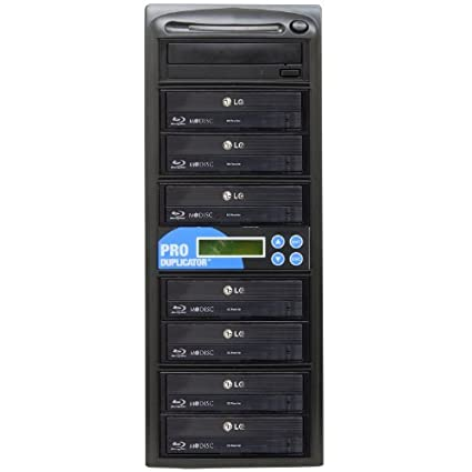 Produplicator 1 to 7 Blu-ray BD BDXL M-Disc CD DVD Duplicator (with Nero  Essentials Burning Software)
