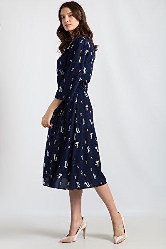 Blue Kleid Print Flare Cosmic mit Finn Damen Niedlichem Katzen U8Y6B6qWn