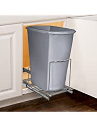 Lynk Professional Roll Out Bin Holder   Pull Out Under Cabinet Sliding  Organizer   Chrome