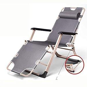 MXueei Regolabile Poltrona Chaise, con poggiatesta Sedia gravità bracciolo reclinabile Lounger Zero Nap Bed Sedia… 9 spesavip