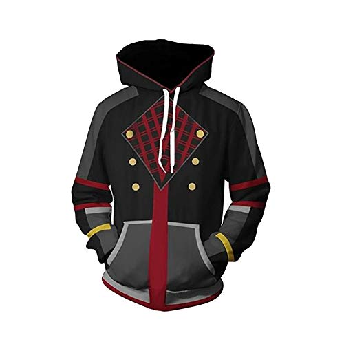 VOSTE Kingdom Hearts Costume Halloween Game Cosplay Zip Up Jacket Pullover Hoodie for Unisex (X-Large, Color 18) ()