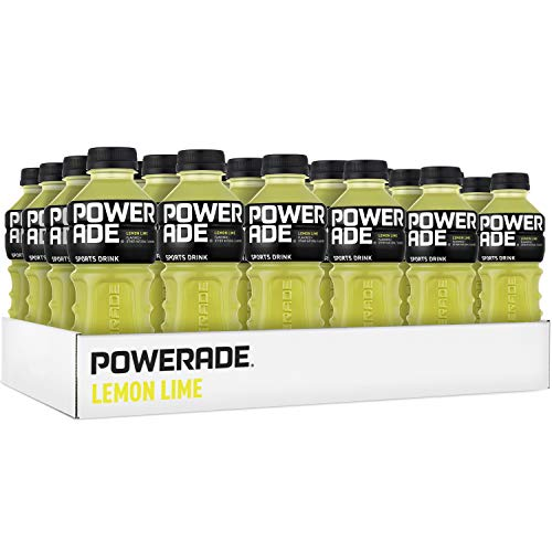 POWERADE, Electrolyte Enhanced Sports Drinks w/ vitamins, Lemon Lime, 20 fl oz, 24 Pack