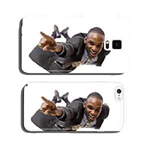 young african american businessman flying or skydiving cell phone cover case iPhone6 Plus