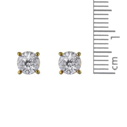 Ivy Gems - 135E1040-01-135P1430-01 - Parure Collier et Boucles d'Oreille Femme - Or Jaune 375/1000 (9 Cts) 2.435 Gr - Oxyde de zirconium