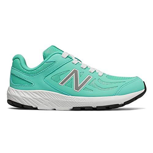 New Balance Girls' 519v1 Running Shoe, Light Tidepool/White, 3 M US Little Kid ()