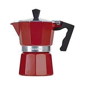 Barazzoni La Caffettiera Colorata Rossa 3 Tazze. Prodotto certificato dall'Accademia Italiana Maestri del Caffè.