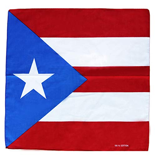 Puerto Rico Wholesale - Fair Deal US 12 Pack Country Flag Print Bandanas (PUERTO RICO/12PACK)