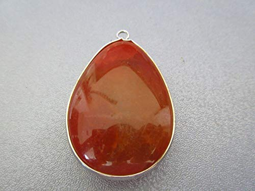 Orange Striped Agate Pendant 1pc -