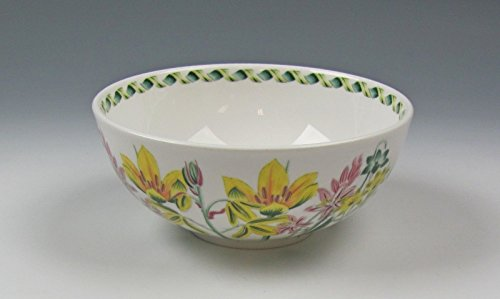 Flowers Coupe Cereal Bowl - Portmeirion LADIES FLOWER GARDEN-ALBUCA Coupe Cereal Bowl Excellent