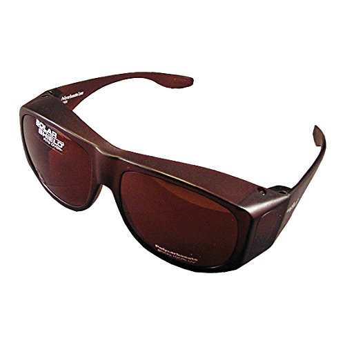 Solar Shield Fits-Over SS Polycarbonate II Amber Sunglasses, - Sunglasses Fits Solar Over Shield