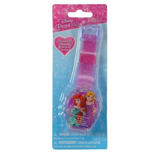 Disney Princess Sparkle Lip Gloss Watch Strawberry Flavored Lip Balm ()