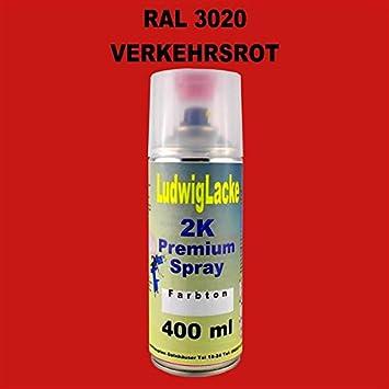 Ludwig Lacke Ral 3020 Verkehrsrot 2k Premium Spray 400ml Auto
