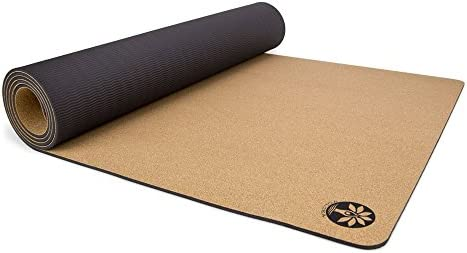 Yoloha Aura Cork Yoga Mat, Non Slip, Sustainable, Soft, Durable, Lightweight, Premium, Handmade, Moisture Resistant