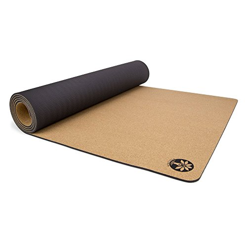 Cheap Yoloha Cork Aura Yoga Mat – 72″ x 26″ – 6mm thick – Non Slip, Sustainable, Soft, Durable, Highest Quality, Premium, Handmade, Moisture Resistant