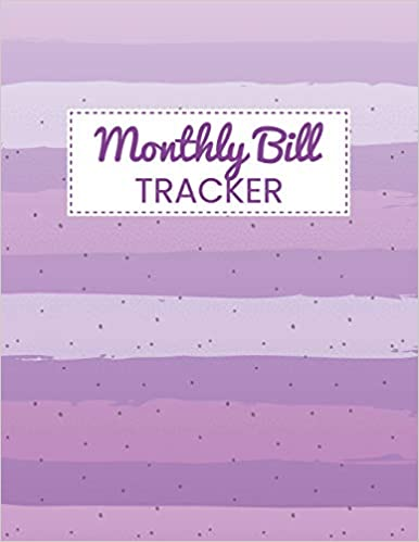 Monthly Bill Tracker Personal Financial Journal