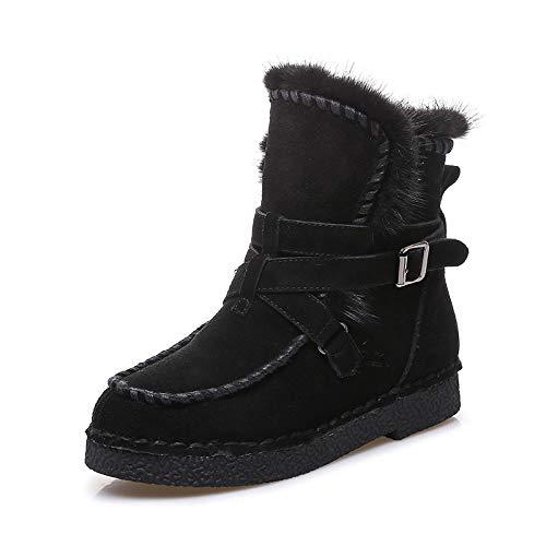 Neve Neve Stivali Antiscivolo Cotone Donne 35 36 Velluto Stivali di di di Visone più Pelle delle Donne XIE Caldo Stivali AqYTwCn4