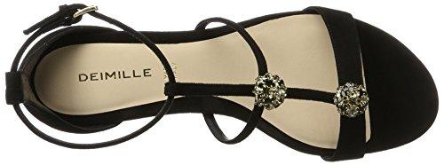 Heels W Dominga Sandals Strass Dei Black Nero Women's Wedge Mille 0qEwxYvt